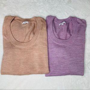 GAP Pink & Purple Medium Sweater Lot of 2